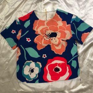 kate spade floral blouse